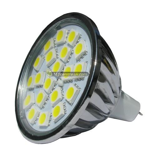 Led Outdoor Light Too Bright: 20 SMD Power 5050, MR16 LED Spot Light, Bright White 12 V