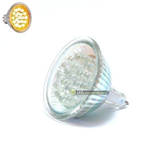 Mr16 Led Orange: 20 Low Power 5 Mm, MR16 LED Spot Light, Orange 12 V AC